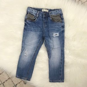 Zara Baby Boys Skinny Distressed Jeans 2/3 Years